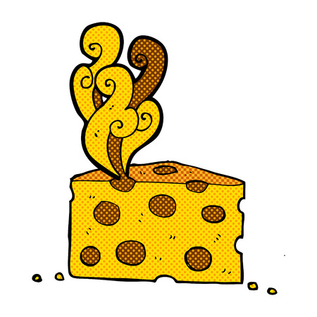 smelly: retro comic book style cartoon smelly cheese