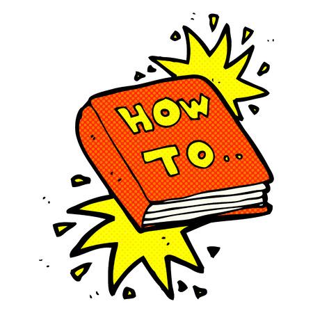 how to: retro comic book style cartoon how to book