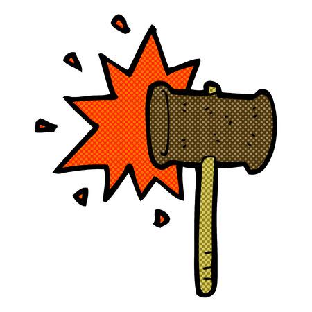 banging: retro comic book style cartoon banging gavel