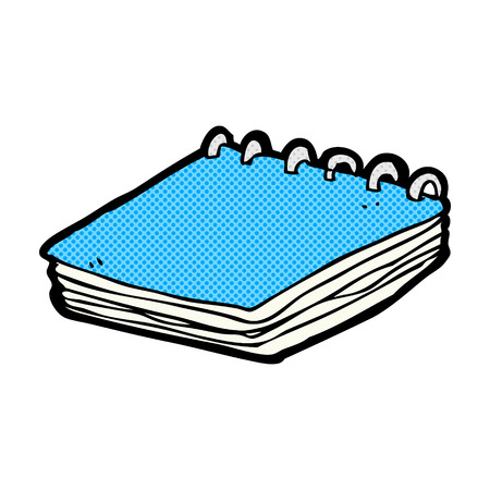 hands tied: retro comic book style cartoon notepad