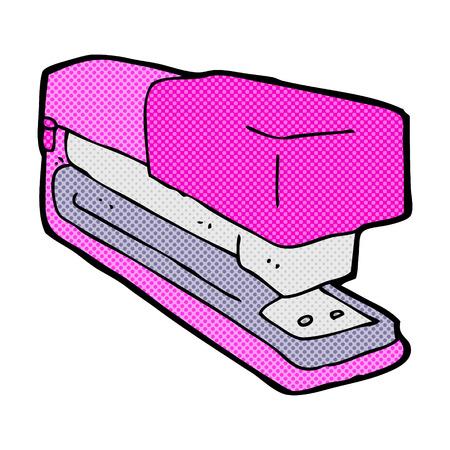 office stapler: retro comic book style cartoon office stapler