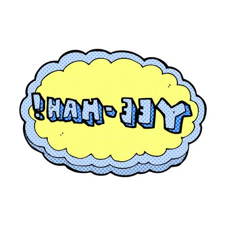 retro comic book style cartoon yeehah symbol Vektorové ilustrace