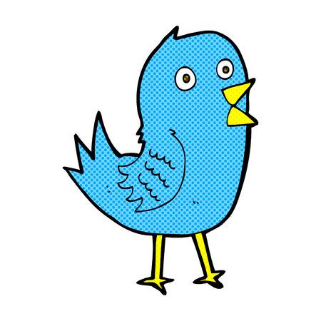 bluebird: retro comic book style cartoon bluebird