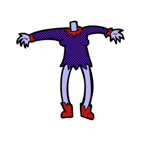match head: retro comic book style cartoon vampire body (mix and match retro comic book style cartoons or add own photo head)