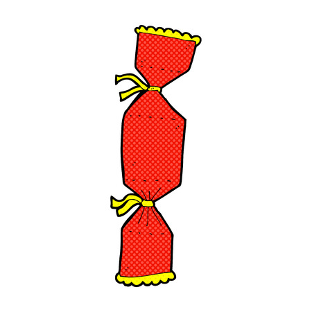 cracker: retro comic book style cartoon christmas cracker