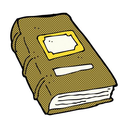 mani legate: retro comic book style cartoon old book