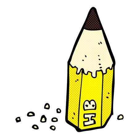 stub: retro comic book style cartoon pencil stub Illustration