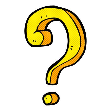 book mark: retro comic book style cartoon question mark