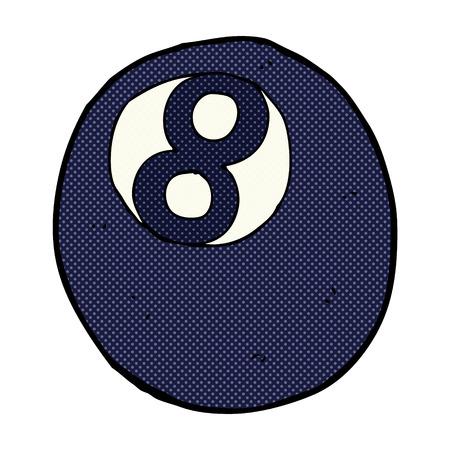 bola ocho: retro estilo del c�mic de dibujos animados bola ocho Vectores