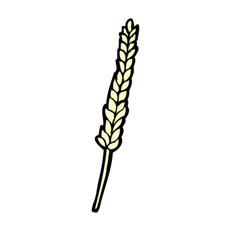 clip art wheat: retro comic book style cartoon corn