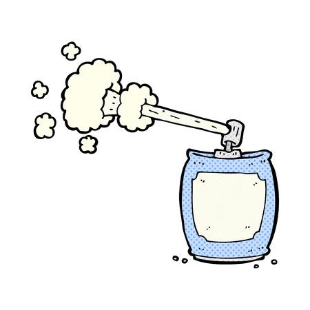 retro comic book style cartoon aerosol spray can Vector