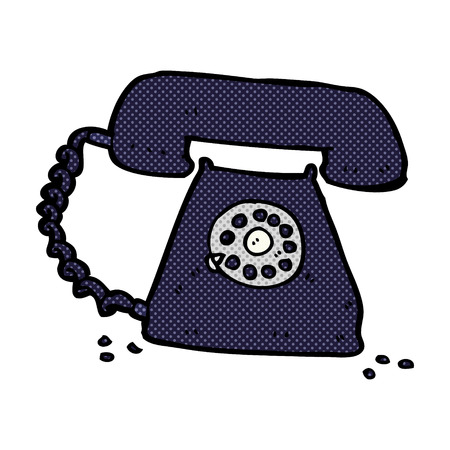 telephone cartoon: retro comic book style cartoon retro telephone