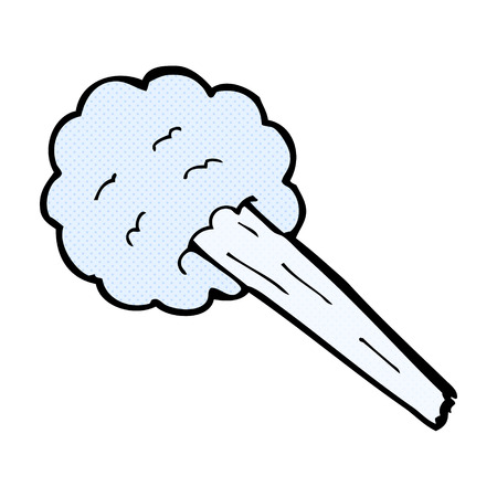gust: retro comic book style cartoon gust of wind