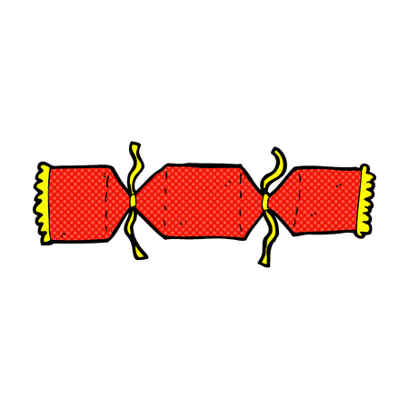 retro comic book style cartoon christmas cracker