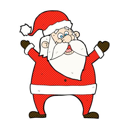 jolly: jolly santa retro comic book style cartoon