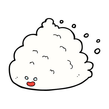 comic book character: retro comic book style cartoon cloud character Illustration