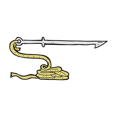 harpoon: retro comic book style cartoon harpoon