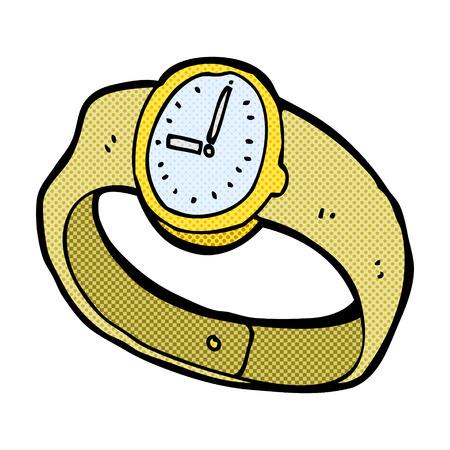 orologio da polso: retr� stile fumetto vigilanza del fumetto da polso