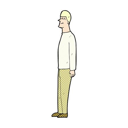tall: retro comic book style cartoon tall man Illustration