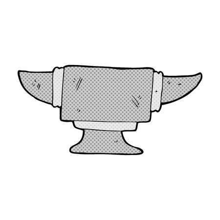 blacksmith: retro comic book style cartoon blacksmith anvil