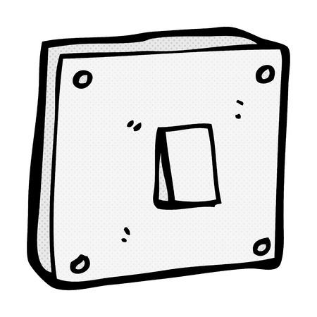 light switch: retro comic book style cartoon light switch Illustration