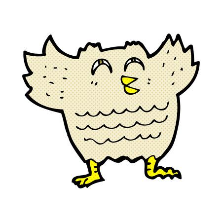 retro comic book style cartoon owl Vector