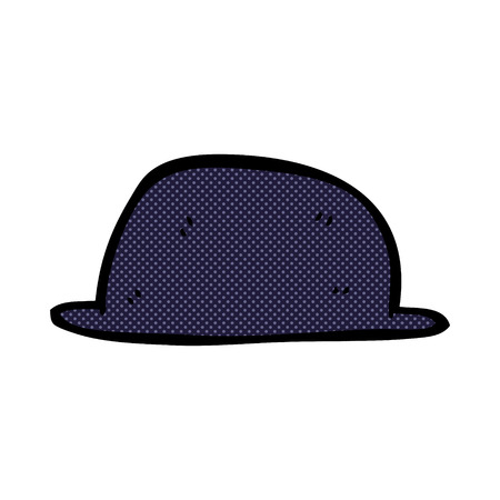 cartoon hat: retro comic book style cartoon hat Illustration