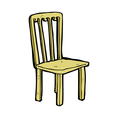 retro comic book style cartoon old chair