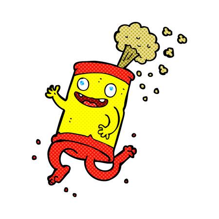 lata de refresco: de dibujos animados retro del estilo del c�mic de soda loco lata Vectores