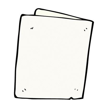 folded hands: retro comic book style cartoon folded card