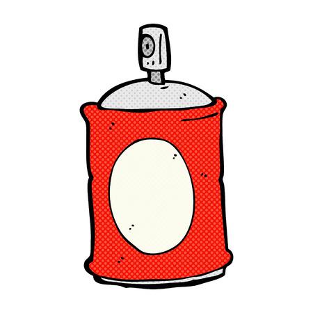 spray can: retro comic book style cartoon spray can