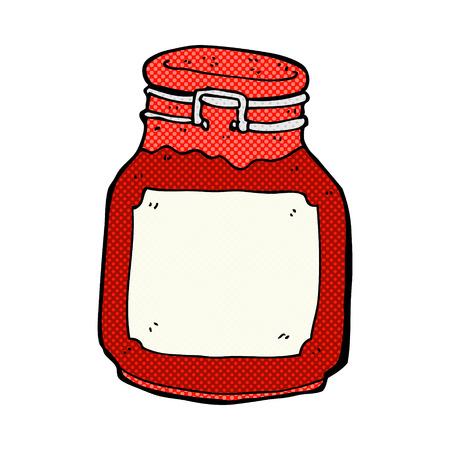 conserve: confiture r�tro bande dessin�e de style de bande dessin�e de pr�server