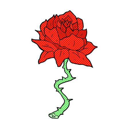 rose tattoo: retro comic book style cartoon tattoo rose