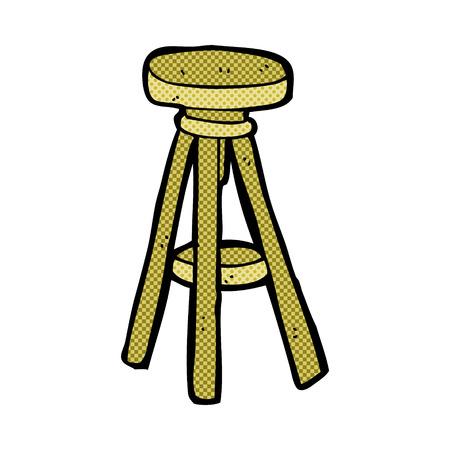 stool: retro comic book style cartoon stool
