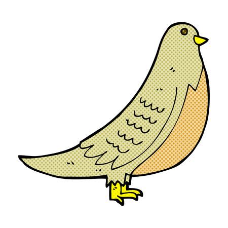 in common: retro comic book style cartoon common bird