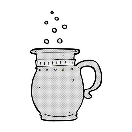 tankard: retro comic book style cartoon beer tankard