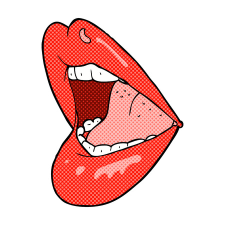 retro comic book style cartoon open mouth