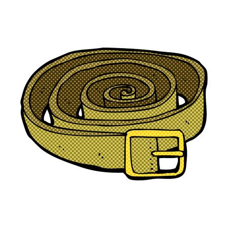cintur�n de cuero: correa de cuero de la historieta del estilo del c�mic retro