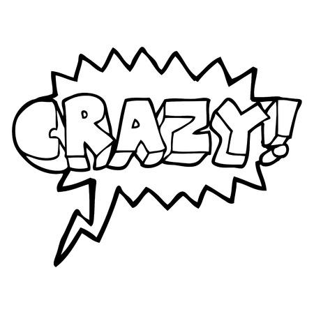 shout: freehand drawn speech bubble cartoon shout crazy