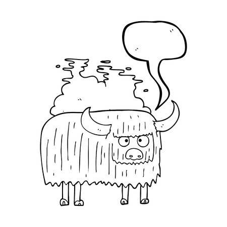 smelly: freehand drawn speech bubble cartoon smelly cow Illustration