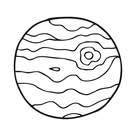 alien world: freehand drawn black and white cartoon alien planet