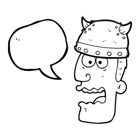 gasp: freehand drawn speech bubble cartoon screaming warrior man
