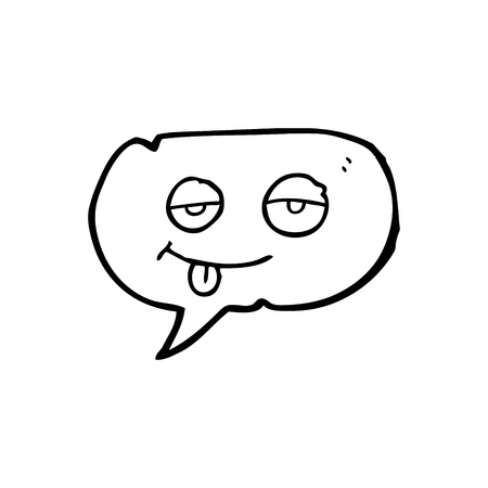 tired eyes: freehand drawn speech bubble cartoon tired eyes