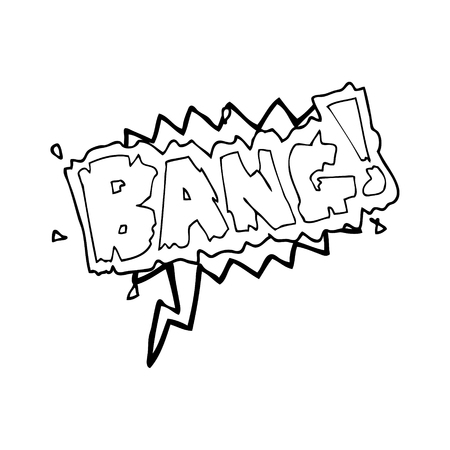 bang: freehand drawn speech bubble cartoon bang symbol