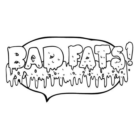 mould: freehand drawn speech bubble cartoon bad fats