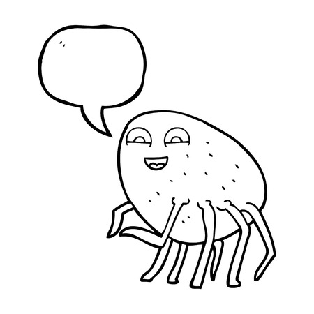 cartoon tick: freehand drawn speech bubble cartoon tick