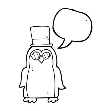 robin: freehand drawn speech bubble cartoon robin