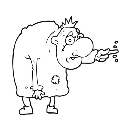 igor: freehand drawn black and white cartoon igor