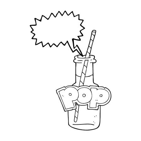 fizzy: freehand drawn speech bubble cartoon fizzy drink bottle