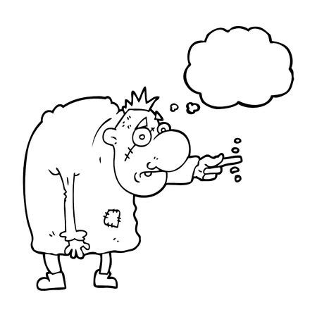 igor: freehand drawn thought bubble cartoon igor